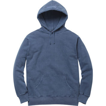 Supreme: Over Dyed Pullover - Washed Blue