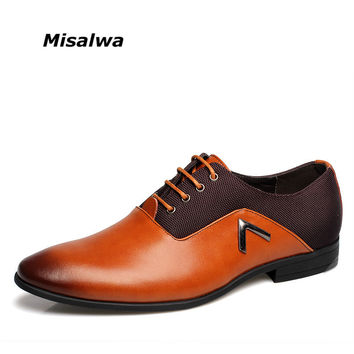 2017 Men Formal Leather Shoes Quality Brand Mens Dress Oxfords Shoes Size 6-12