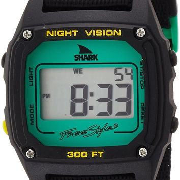 Freestyle Unisex 10019182 Shark Clip Digital Display Japanese Quartz Black Wa...