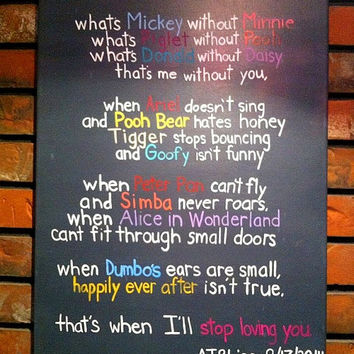 Disney Quote Canvas - Disney Wedding Gift -  Love Canvas Art- Disney Canvas Art - Wedding Gift - Wedding Canvas Art - Disney - Canvas Art