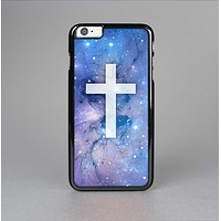 The Vector White Cross v2 over Purple Nebula Skin-Sert for the Apple iPhone 6 Skin-Sert Case