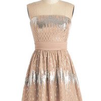 Short Length Strapless A-line Sparkling Saturday Dress by ModCloth