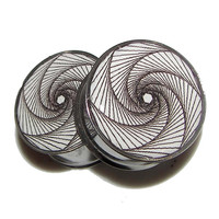 """Bullethold Spiral Plugs - 1 Pair (2 plugs) - Sizes 8g to 2"""" - Made to Order"""
