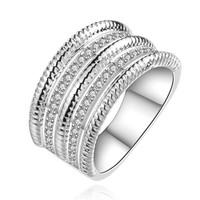 925 Silver stamp jewelry men rings the lord of rings silver plated ring