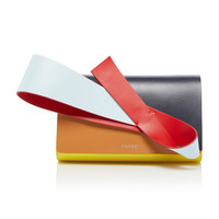 Orchid Paneled Patent And Smooth Leather Clutch | Moda Operandi