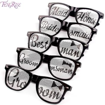 Bridal Shower Novelty Sunglasses Groom Bride Glasses Bachelorette Party Night Fancy Dress Wedding Decor Supplies