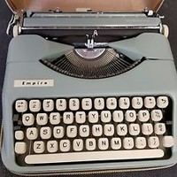 Vintage Smith Corona Empire Portable Manual Typewriter with Leather Case SALE