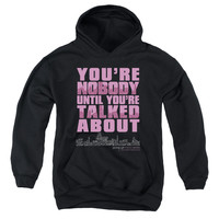 GOSSIP GIRL/YOU'RE NOBODY-YOUTH PULL-OVER HOODIE - BLACK - LG