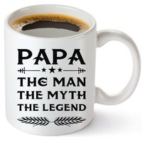 Papa Mug - Gift For Dad And Grandpa! Coffee Tea 11oz Cup. Unique Gifts For Men & Husband! Christmas, Birthday, Father's Day - Papa The Man The Myth The Legend! With Woodworking Guide Ebook By Muggies