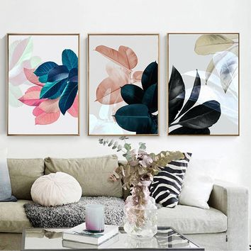 Nordic Scandinavian Plant Leaves Canvas Art Print Wall Pictures/Poster/Paintings for Bedroom Living Room Wall Art Home Decor  Fr