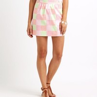 Neon Patchwork Whale Skirt