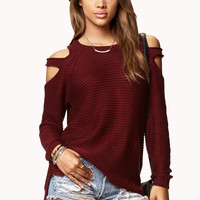 Chunky Cutout Shoulder Sweater