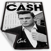Johnny Cash Blanket for Kids Blanket, Fleece Blanket Cute and Awesome Blanket for your bedding, Blanket fleece **