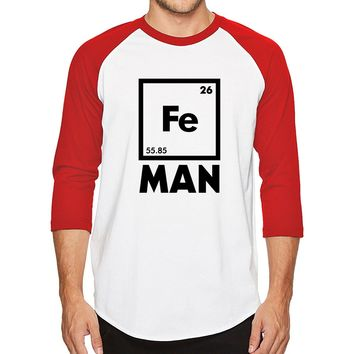 Summer 2018 Iron Science T-shirt Funny Chemistry Superhero Shirt Periodic Table top men's T-shirts harajuku raglan t shirt