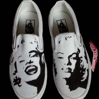 Hand Painted Custom Vans Shoes (Marilyn Monroe, Audrey Hepburn, John Lennon, Ect.)