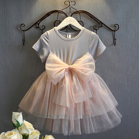 Baby Girls Sequins Tutu Bow Gown Fancy Princess Dresses