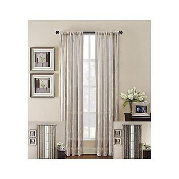 Heirloom Rod Pocket 50 X 63 Curtain Panel Linen