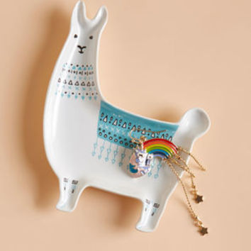 Llama, I'm Coming Home Ceramic Dish