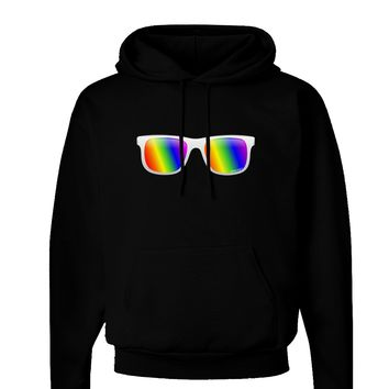 Pride Rainbow Lenses Dark Hoodie Sweatshirt by TooLoud