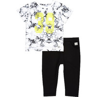 River Island Mini boys black t-shirt and joggers outfit