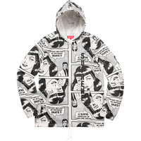 Supreme: Supreme®/Thrasher® Boyfriend Hooded Zip Up Jacket - White