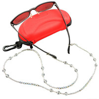 Womens Vintage Beaded Eyeglass Sunglasses Reading Glasses Chain Cord Holder neck strap Rope
