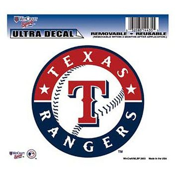 Texas Rangers Decal 5x6 Ultra Color