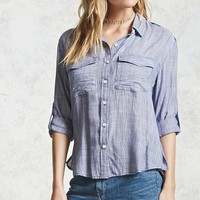 Micro Stripe Button-Down Shirt