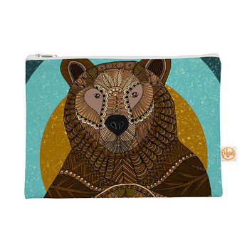 "Art Love Passion ""Bear in Grass"" Brown Blue Everything Bag"