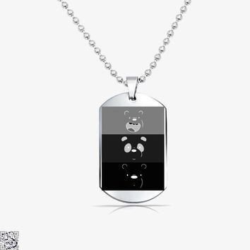Color Stripes, We Bare Bears Tag Necklace