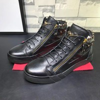 Giuseppe Zanotti Men's Leather Fashion Mid Top Sneakers Shoes