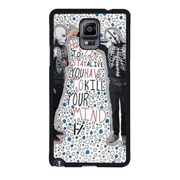 migraine twenty one pilots samsung galaxy note 4 note 3 2 cases