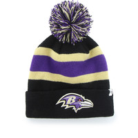47 Brand - Ravens Black Breakaway Cuff Knit w/ Pom - Black/ Purple