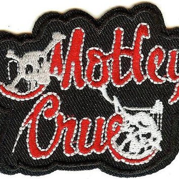 Motley Crue Iron-On Patch Stacked Letters Logo