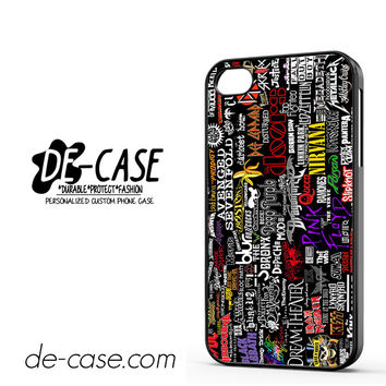 Metal Band Logo Metallica Sticker Bomb ACDC DEAL-7071 Apple Phonecase Cover For Iphone 4 / Iphone 4S