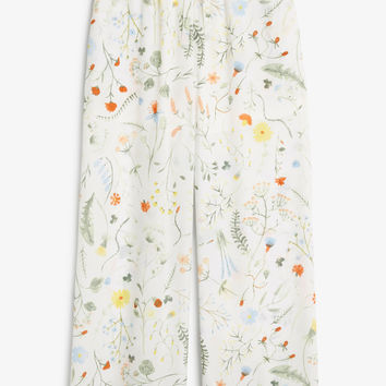 Monki | Trousers | Semi-sheer palazzo pants