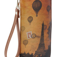 ModCloth French Sepia You Soon Clutch in Paris