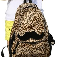 Mooncolour Leopard Big Beard Backpack School Kanapsack:Amazon:Clothing