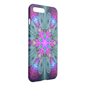Mandala from the Center Colorful Fractal Art iPhone 7 Plus Case