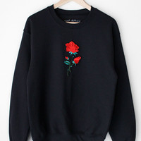 Rose Oversized Sweater - Black