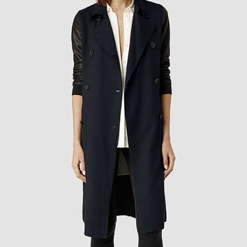 Womens Elias Mac (Ink) | ALLSAINTS.com