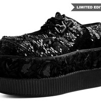 Black Sequins Double Double Creeper