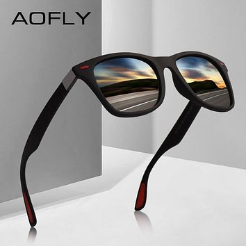 Sunglasses AOFLY BRAND DESIGN New 2018 Classic Polarized Men Driving TR90 Frame
