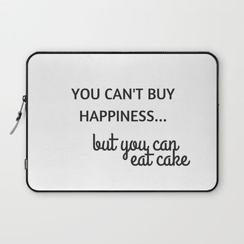 YOU CANT BUY HAPPINESS Laptop Sleeve by Love from Sophie