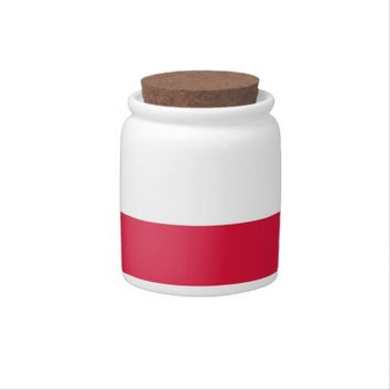 Polish Flag on Candy Jar