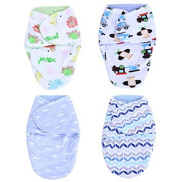 Newborn Sleeping Bag Bed Swaddle Blanket Wrap Bedding Baby Clothes Sleeping Bag Newborn Quilt Blankets