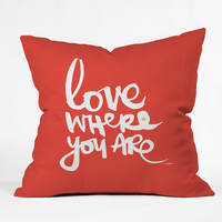 Kal Barteski Love Red Throw Pillow