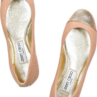 Jimmy Choo | Whirl leather ballerina flats | NET-A-PORTER.COM