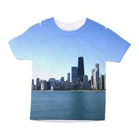 Chicago Skyline Toddler All Over Print Tee> Chicago Cityscapes> Famous Travels Home Decor
