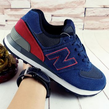 NEW BALANCE Women Men Casual Running Sport Shoes Sneakers Sapphire-Wine red